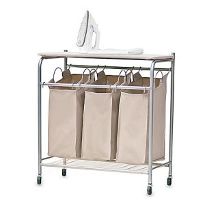 Laundry Hamper Trolley with Ironing Board pictures & photos