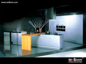 Modern Gray Spray Kitchen Cupboard pictures & photos