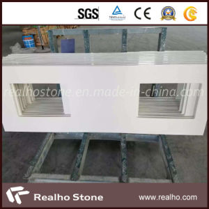 White Artificial Quartz Stone for Bathroom Vanity Tops pictures & photos