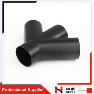 Good Quality PE Pipe Fitting 4 Ways 45 Degree Reducing Cross pictures & photos