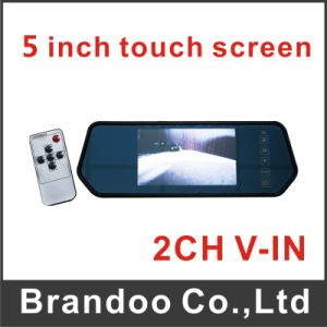5 Inch Car Mirror LCD Monitor, Support Touch Screen, Rear Driving LCD From Brandoo Company pictures & photos
