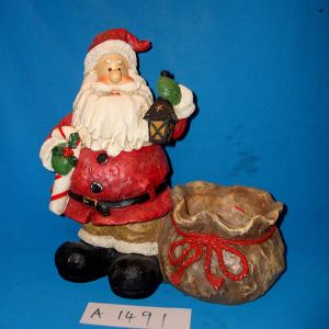Antique Santa with Candy Holder for Christmas Decoration pictures & photos