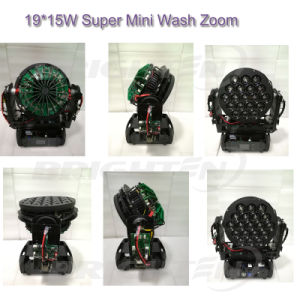 19*15W Mini LED Wash Moving Head Light for Stage (BR-1915P) pictures & photos