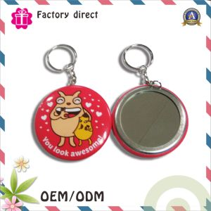 Give Away Logo Printed Mirror Keychain pictures & photos