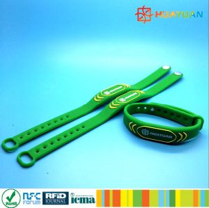 Cashless payment silicone RFID MIFARE Plus S 2K wristband bracelet pictures & photos