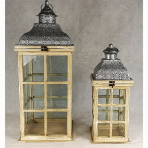 Wooden&Metal Glass Outdoor Antique Garden Candle Lantern pictures & photos