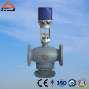Electric  Three Way (3-way) Mixing Flow Regulating Valve (ZDLQ) pictures & photos