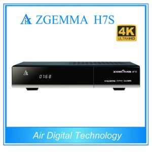 4k Uhd TV Box Zgemma H7s Satellite/Cable Receiver Linux OS Enigma2 Hevc/H. 265 with 2*DVB-S2/S2X + DVB-T2/C Three Tuners pictures & photos