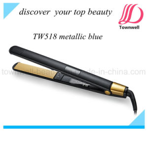 Beauty Salon Equipment Black Color of Ceramic Hair Straightener pictures & photos