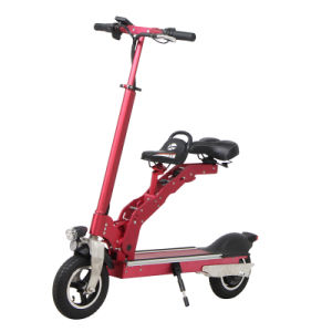Fashionable Electric Two Wheels Foldable Scooter with Saddle pictures & photos