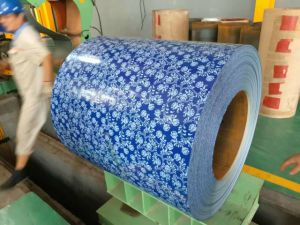 PPGI Color Coated Prepainted Galvanized Steel Coil (Flower Pattern) Yehui pictures & photos