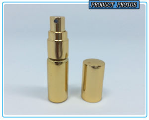 5ml Gold Glass Spray Perfume Bottle with Gold Pump pictures & photos