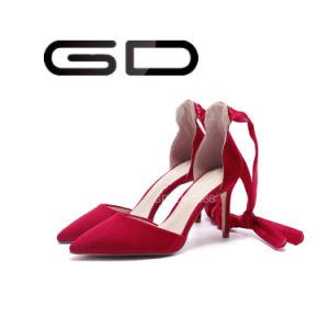 Manufacture Supply Sexy Ladies Red High Heel Sandals Shoes pictures & photos