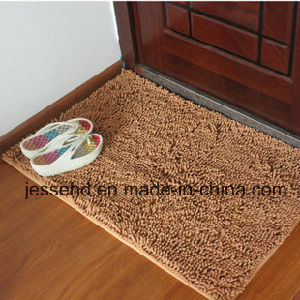 Absorbent Chenille Microfiber Carpat Plain Color Door Mat pictures & photos