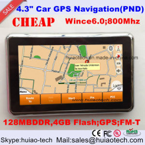 2016 Promotion 4.3inch Car Portable GPS Navigator with ISDB-T TV Bluetooth Wince 6.0 OS pictures & photos