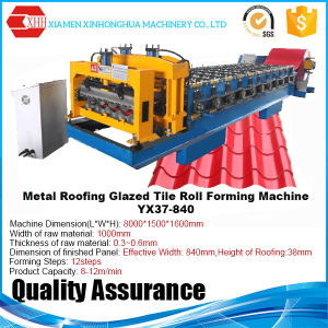 Popular Style Classic Glazed Tile Roofing Sheet Red Metal Glazed Tile Roll Forming Machine pictures & photos