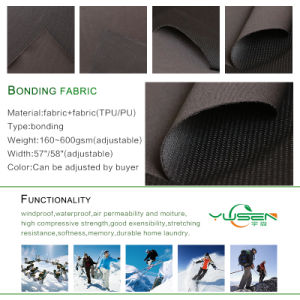 Good Quality 2 Layers Textile Knitted Bonded Fabric pictures & photos