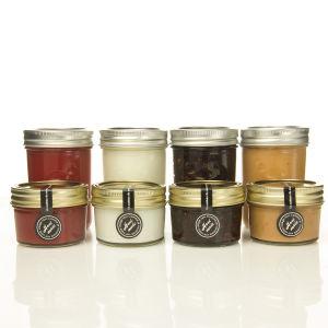 4oz Mason Jar with Silver/Gold Lid