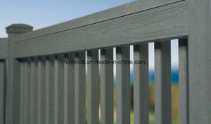 Waterproof Cheap Outdoor Wood Plastic Composite WPC Fence K-Rl-17 pictures & photos