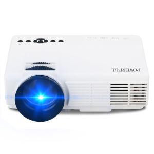 LED Upgraded Projector 1200 Lumens 800*480 Resolution Home Cinema Support PC Laptop USB TV Box iPad Smartphone-Black pictures & photos