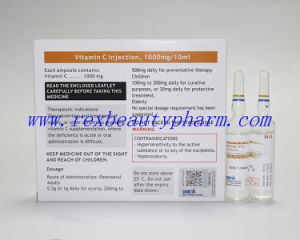 Manufacture Supplier 1g/10ml Vitamin C Injection for Beauty Skin Whitening pictures & photos