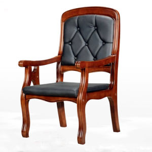 Wooden Arms Classic Design Bedroom Reception Chair (NS-CF027) pictures & photos