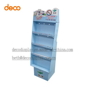 Corrugated Cardboard Floor Display Stand Paper Display Shelf Retail Selling pictures & photos