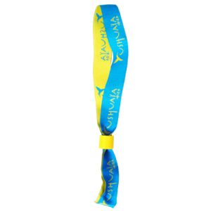 Custom Cheap Promotional Fabric Wovern Wristbands for Party pictures & photos