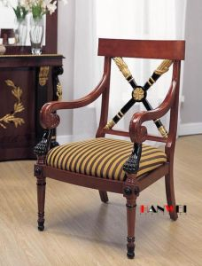 Wooden Furniture-Wooden Chair with Armrest pictures & photos