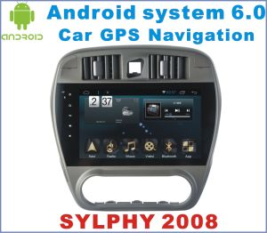 Android 6.0 Car DVD Player for Nissan Sylphy 2008-2011 with Car GPS Navigation