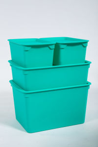 Rodman Living Room Use One Set Storage Box for Clothing Toy Shoes in Green pictures & photos