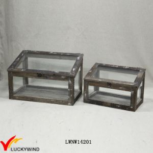 Reproduction Handmade Chic Display Glass Wood Box pictures & photos