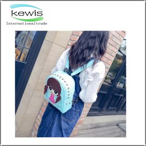 Light Blue Hot Sale Casual Backpack with Polyester Inside pictures & photos