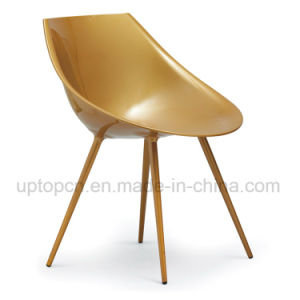 ABS Golden Plastic Chair with Metal Legs for Restaurant (SP-UC211) pictures & photos