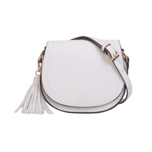 White Fashion Tassel Saddle Ladies Messenger Bag (MBNO042098) pictures & photos