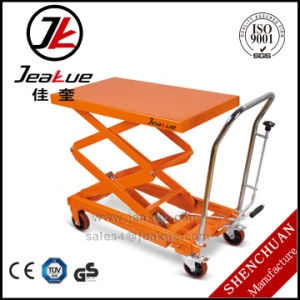 German Quality Movable 300kg Electric Pedal Lift Table pictures & photos