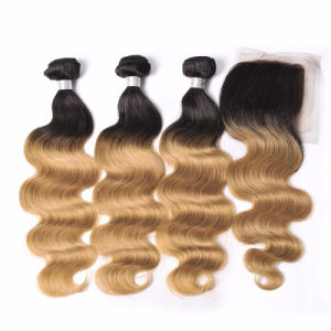 Brazilian Ombre Body Wave 3 Bundles Brown/Blonde 100% Unprocessed Virgin Hair Body Wave Three Tone Human Hair Weave 1b 4 27 30 pictures & photos