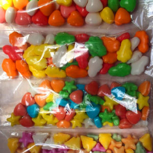 Bulk Solid Hard Candy, Candy Color Lucky Star OEM