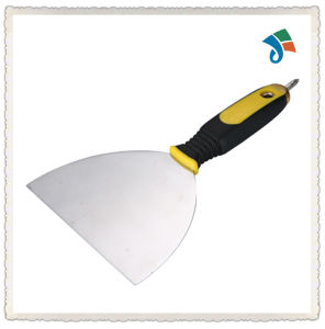 TPR Handle Stainless Steel Scraper Putty Knife pictures & photos