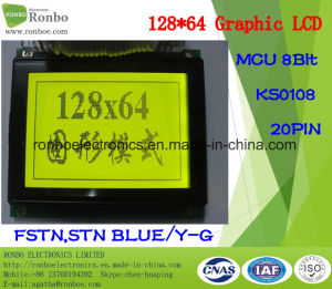 128X64 Graphic LCD Screen, MCU 8bit, Ks0108, 20pin, COB Graphic LCM Display pictures & photos