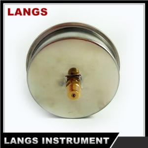 "015 4"" Stainless Steel Brass Socket Pressure Gauge pictures & photos"