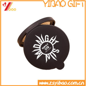 High Quality Custom Logo Silicone and 2 Way Make up Round Mirror pictures & photos