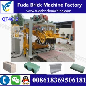 Qt40-2 Manual Sand Concrete Block Machine/Fly Ash Habiterra Block Machine pictures & photos