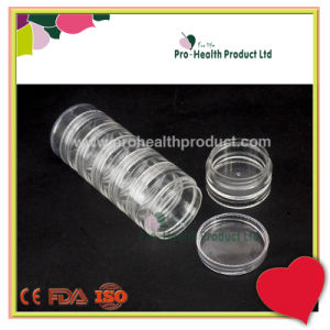 Transparent 7 Layers Food Grade PP Round Capsule Pill Container pictures & photos