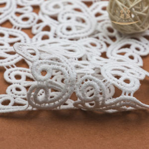 White Color Beautiful African Lace Fabric for Curtain/Dress pictures & photos
