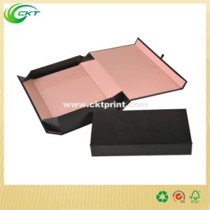 Custom Logo Printed Flat Cardboard Gift Box with Magnetic Closure (CKT-CB-708) pictures & photos