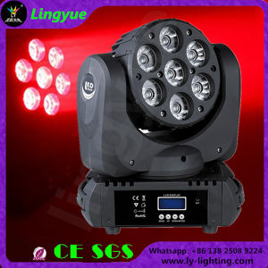 Professional Stage RGBW 4in1 LED Moving Head Wash Zoom 7X12 pictures & photos