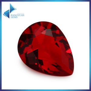 Faceted Red Glass Pear Teardrop Gems pictures & photos