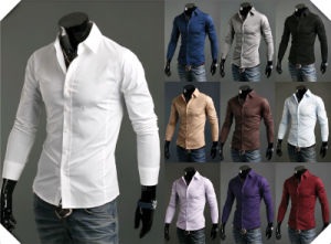 Men Luxury Casual Stylish Slim Fit Long Sleeve Casual Shirts pictures & photos