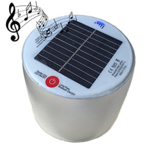 New Arrival Inflatable Solar LED Lamp Solar Lantern with Waterproof Bluetooth Speaker pictures & photos
